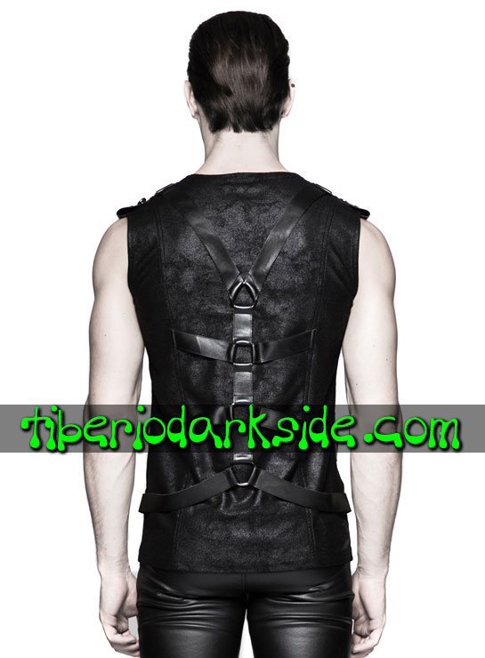 Tiberio Dark Side. CYBER GOTH - PUNK RAVE Spine Harness Cyber Goth Tank Top