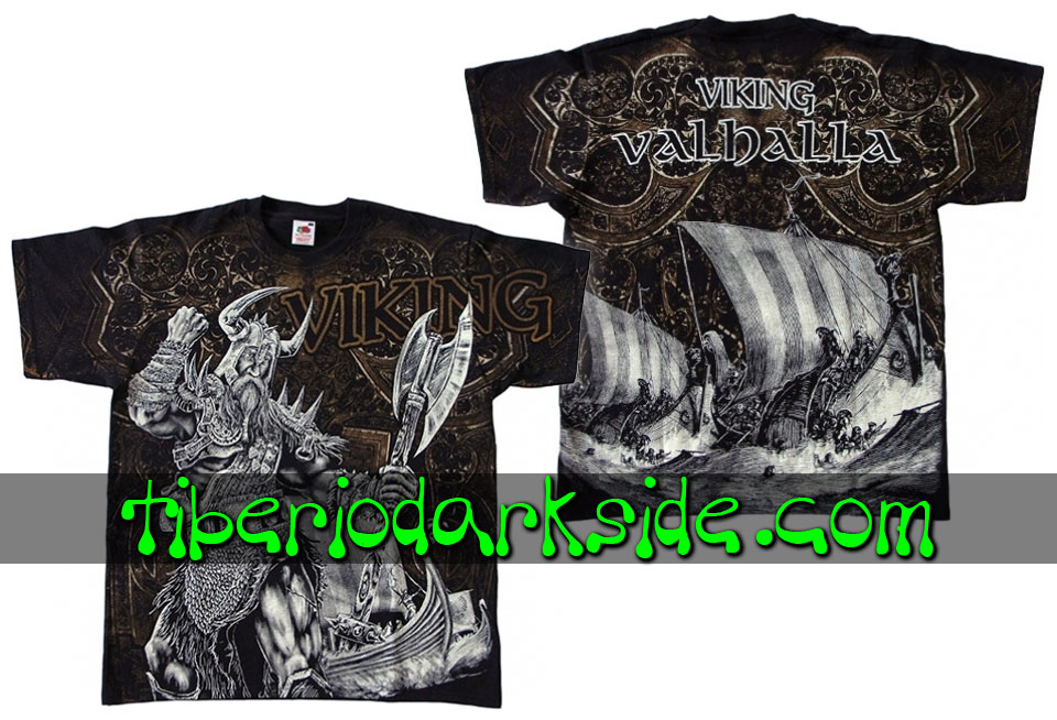 HOMBRE - Camisetas TIBERIO DARK SIDE Camiseta Viking Valhalla