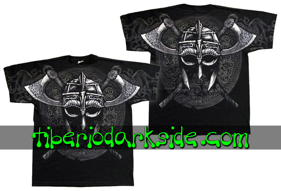 HOMBRE - Camisetas TIBERIO DARK SIDE Camiseta Viking Casco