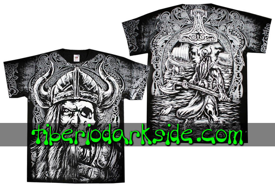 HOMBRE - Camisetas TIBERIO DARK SIDE Camiseta Viking Calavera
