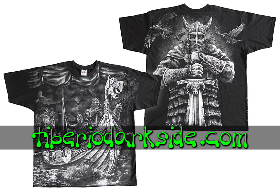 HOMBRE - Camisetas TIBERIO DARK SIDE Camiseta Viking Drakkar