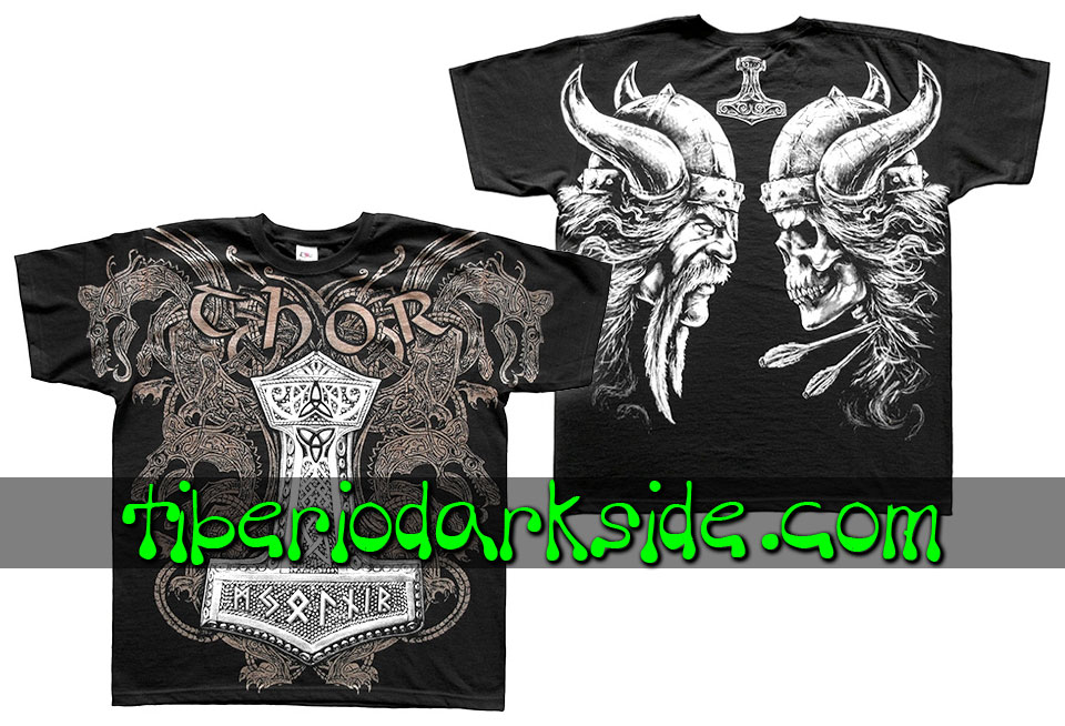 HOMBRE - Camisetas TIBERIO DARK SIDE Camiseta Viking Martillo de Thor