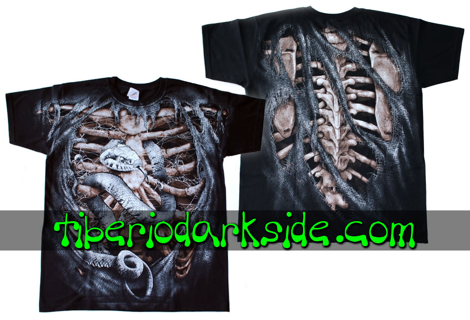 HOMBRE - Camisetas TIBERIO DARK SIDE Camiseta Costillas Serpiente