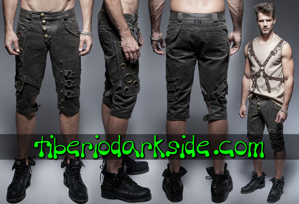 POST APOCALYPTIC - Men's PUNK RAVE Short Post Apocalyptic Trousers