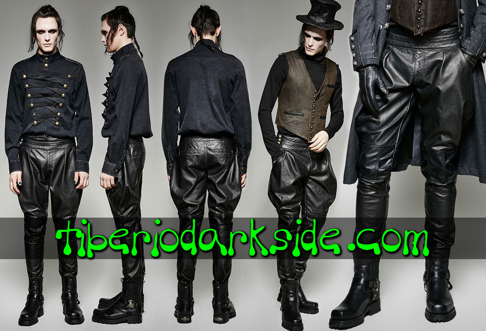 - MEN PUNK RAVE Victorian Rider Steampunk Trousers