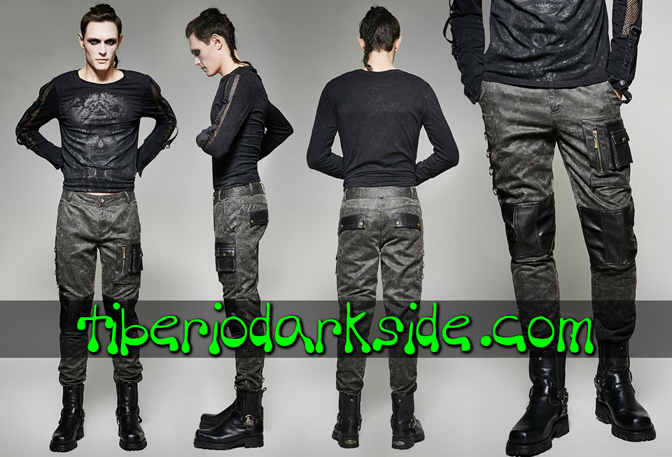 POST APOCALYPTIC & CYBER GOTH - Hombre PUNK RAVE Pantalones Post Apocalipticos Piloto