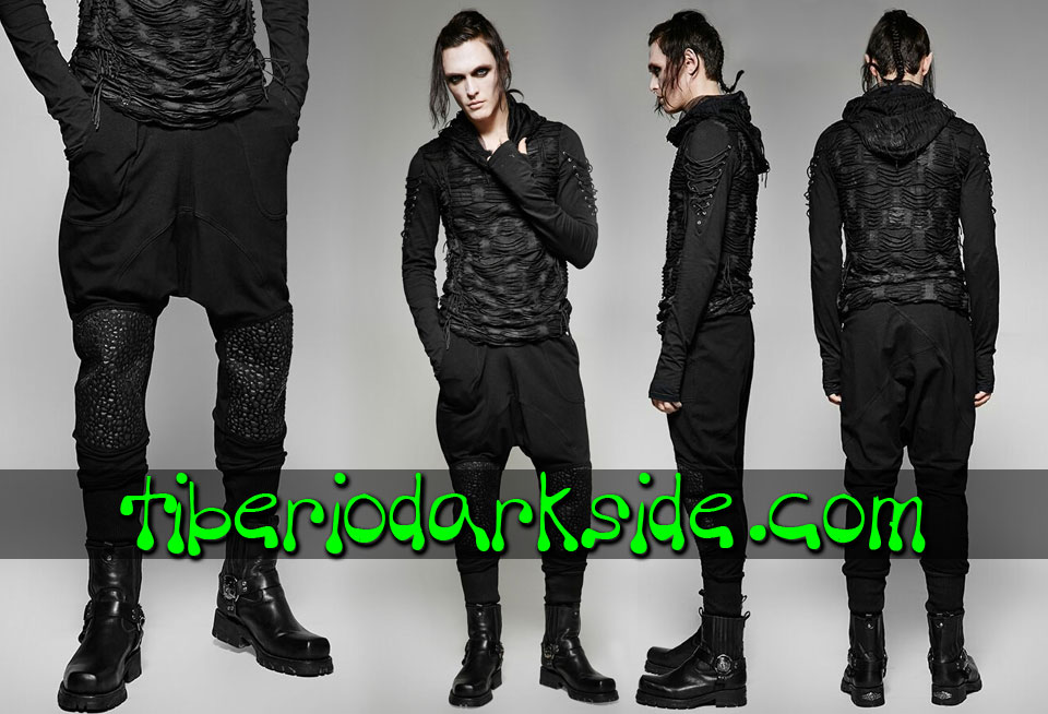 POST APOCALYPTIC & CYBER GOTH - Hombre PUNK RAVE Pantalones Post Apocalipticos Rocas