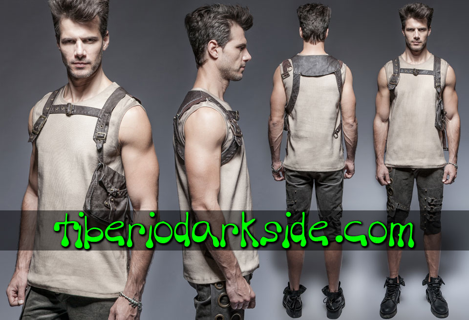 POST APOCALYPTIC - Arneses PUNK RAVE Arnes Post Apocaliptico Bolsillo Lateral