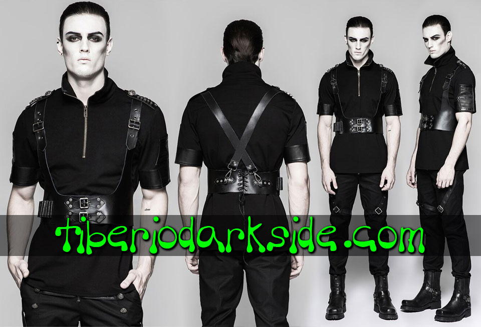 ACCESSORIES - Harnesses PUNK RAVE Post Apocalyptic Chest Harness (Men)