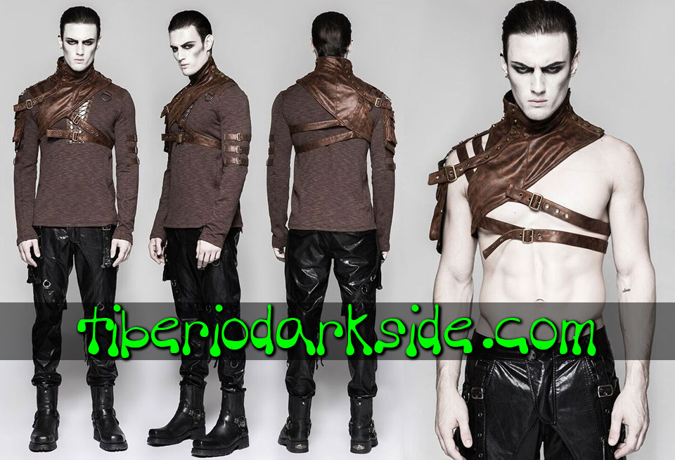 POST APOCALYPTIC - Arneses PUNK RAVE Arnes Post Apocaliptico Bolsillo Marron