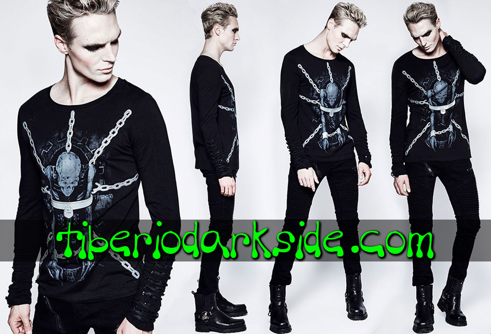 Tops - Long Sleeve PUNK RAVE Chained Zombie Gothic Top
