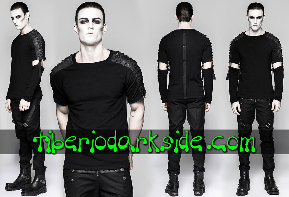 Tops - Long Sleeve PUNK RAVE Dragon Scale Industrial Goth Top