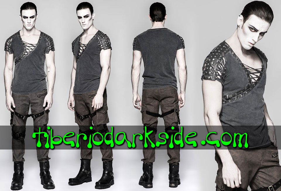 POST APOCALYPTIC & CYBER GOTH - Hombre PUNK RAVE Top Post Apocaliptico Cicatriz