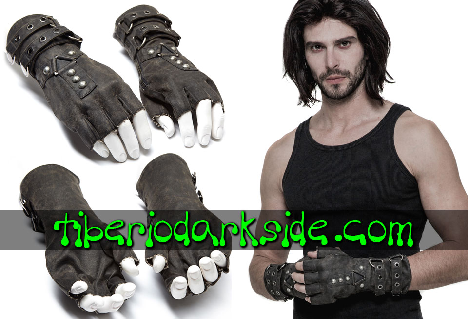 POST APOCALYPTIC & CYBER GOTH - Accesorios PUNK RAVE Guantes Post Apocalipticos Gris