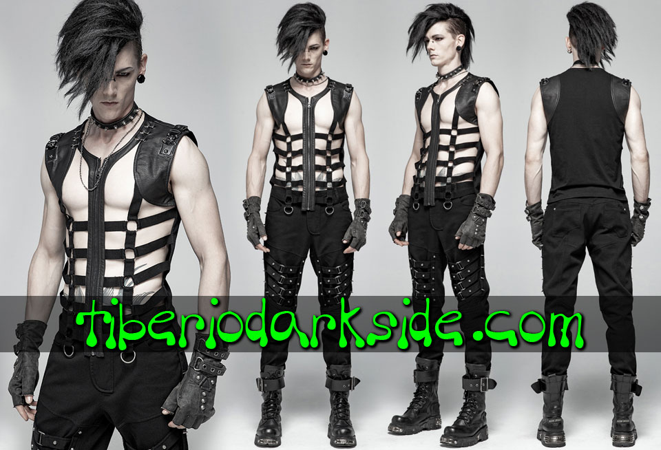 POST APOCALYPTIC - Men's PUNK RAVE Cage Post Apocalyptic Vest