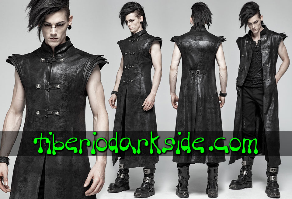 POST APOCALYPTIC - Men's PUNK RAVE Armor Post Apocalyptic Long Vest