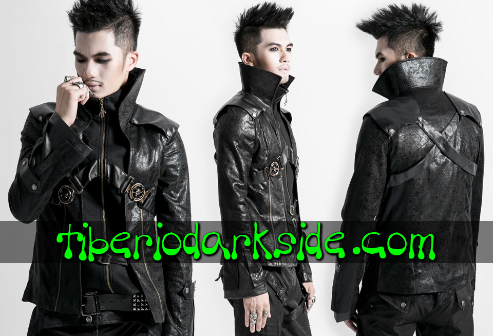 POST APOCALYPTIC - Men's PUNK RAVE Skull Post Apocalyptic Jacket