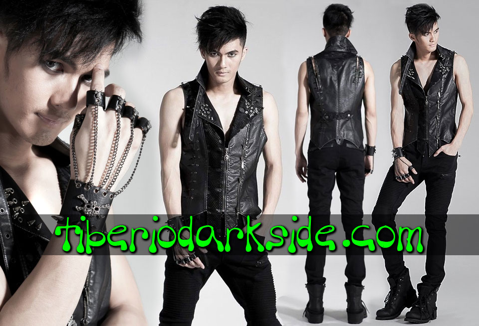 POST APOCALYPTIC - Men's PUNK RAVE Spikes Post Apocalyptic Vest