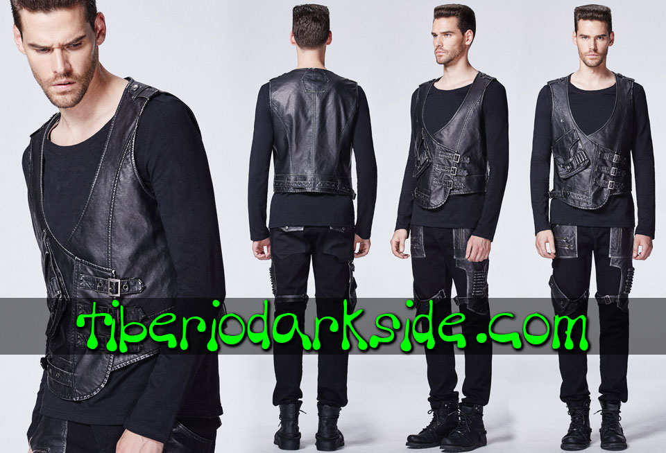 POST APOCALYPTIC - Men's PUNK RAVE Tactical Post Apocalyptic Vest