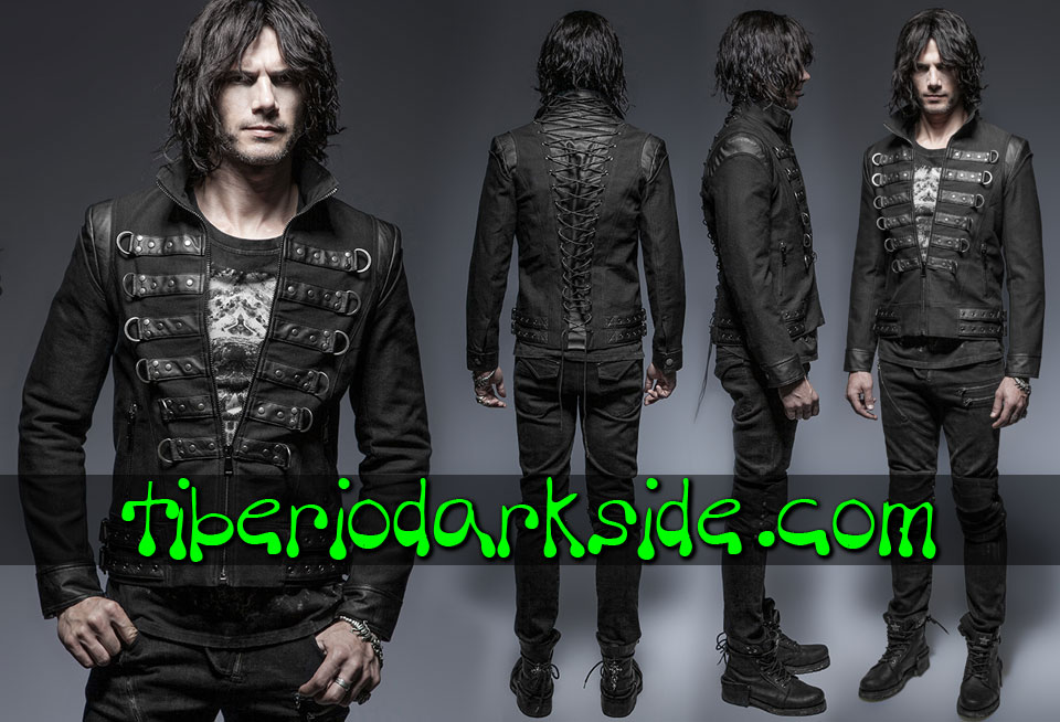 CORPORATE & MILITARY GOTH - Hombre PUNK RAVE Chaqueta Military Goth Soldado