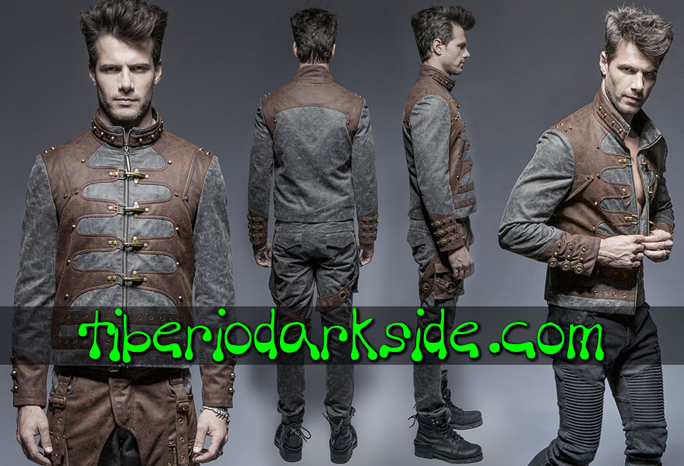 POST APOCALYPTIC & CYBER GOTH - Hombre PUNK RAVE Chaqueta Post Apocaliptica