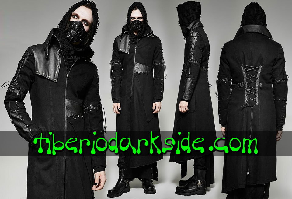 POST APOCALYPTIC - Men's PUNK RAVE Asymmetric Post Apocalyptic Coat
