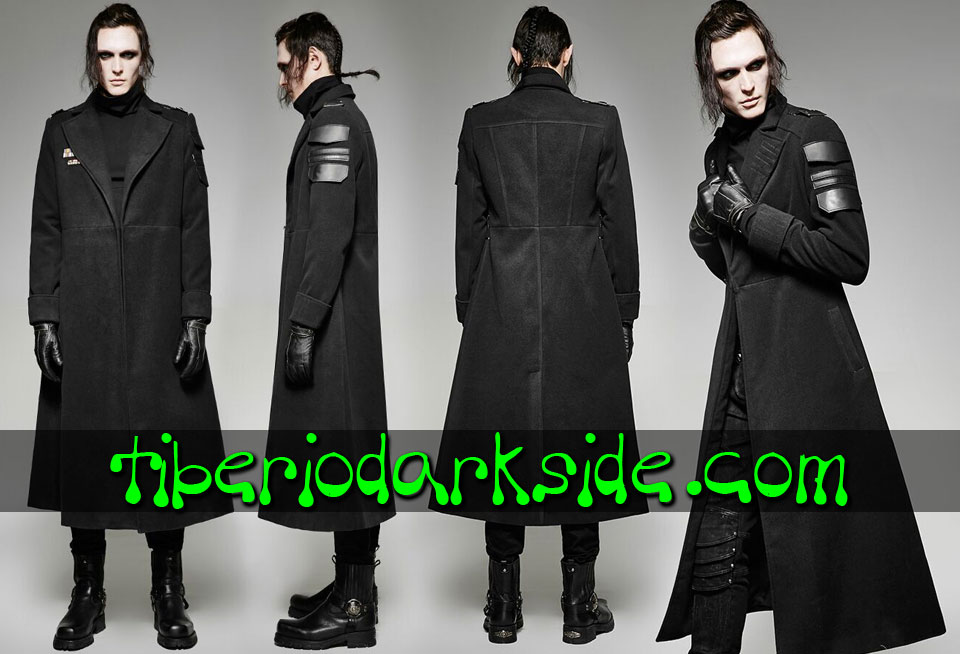CORPORATE & MILITARY GOTH - Hombre PUNK RAVE Abrigo Militar Uniforme Soldado
