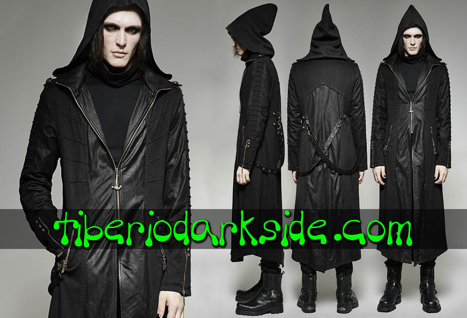 POST APOCALYPTIC - Men's PUNK RAVE Black Vigilante Post Apocalyptic Coat