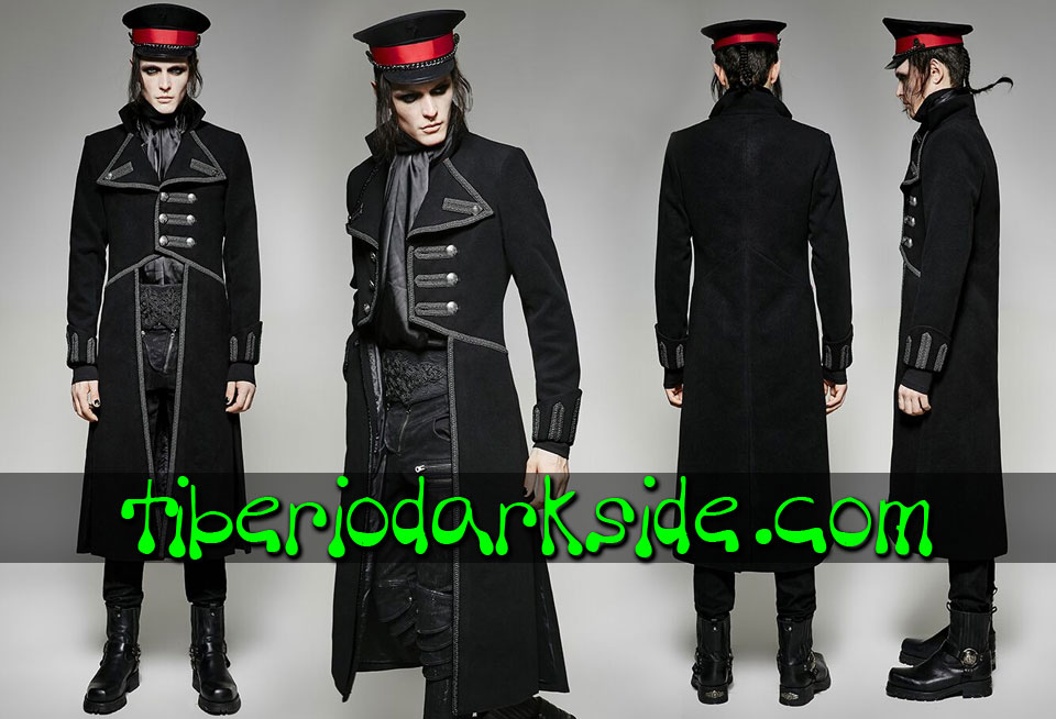 CORPORATE & MILITARY GOTH - Hombre PUNK RAVE Abrigo Militar Uniforme Oficial