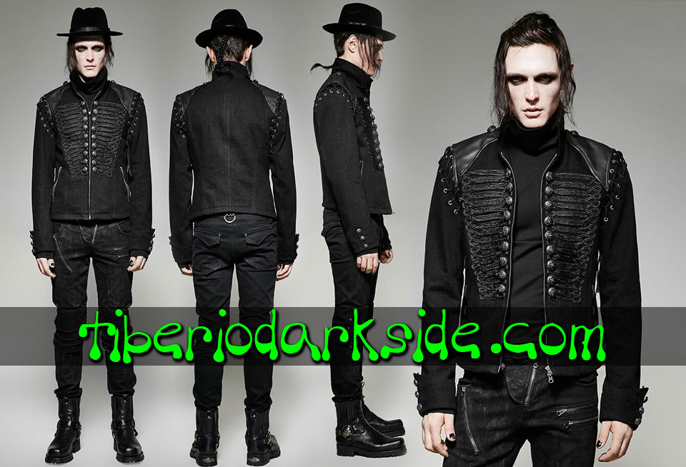 CORPORATE & MILITARY GOTH - Hombre PUNK RAVE Chaqueta Neo Goth Militar