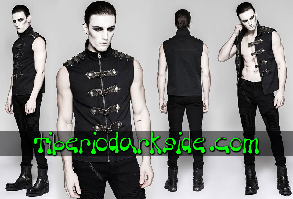 - CYBER GOTH PUNK RAVE Metal Plaques Cyber Goth Vest