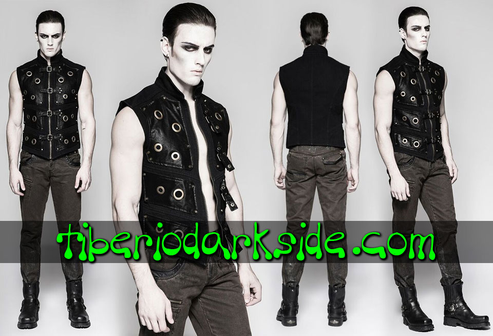 POST APOCALYPTIC - Men's PUNK RAVE Warrior Armor Post Apocalyptic Vest