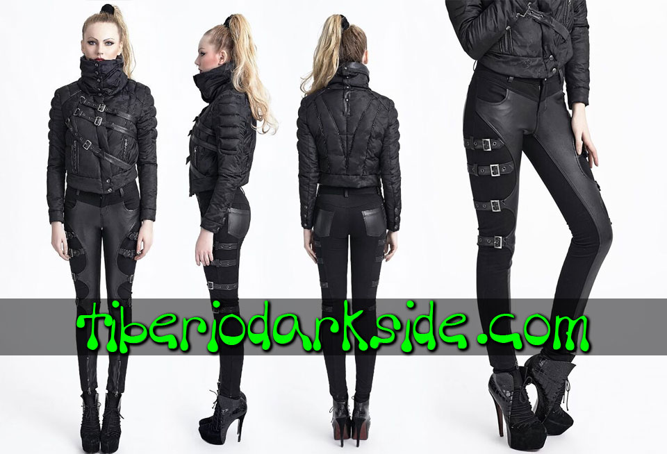 MILITARY GOTH - Trousers PUNK RAVE Buckles Synthetic Leather Trousers