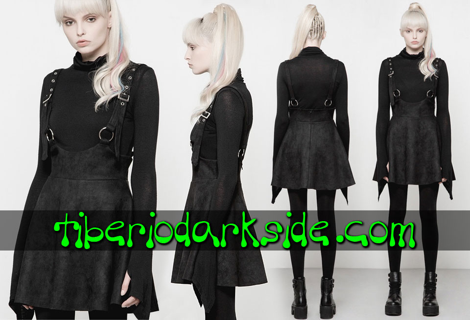 Skirts - Short PUNK RAVE O Ring Suspenders Casual Goth Skirt