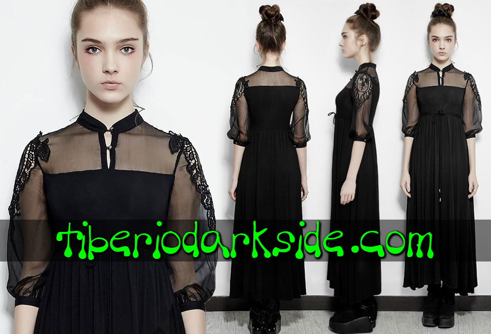 - BOHO GOTH PUNK RAVE Guipure Shoulders Boho Goth Dress