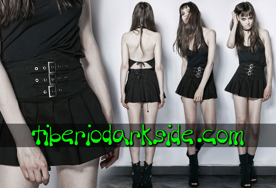 Skirts - Short PUNK RAVE Pleated Casual Goth High Waist Skirt