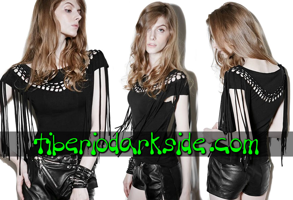 WITCHY & NU GOTH - Camisas y Tops PUNK RAVE Top Nu Goth Flecos