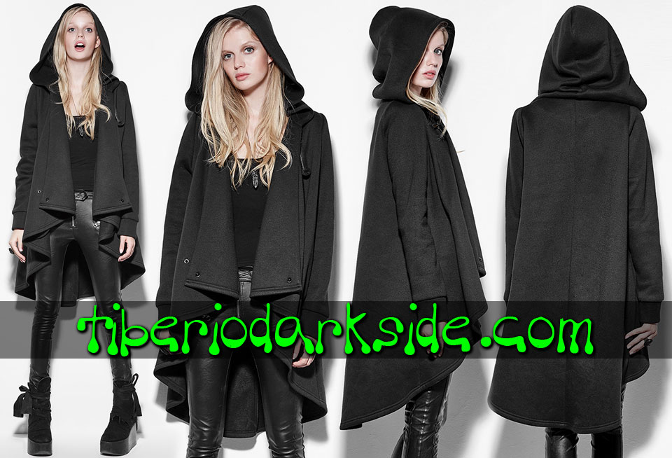 WITCHY & NU GOTH - Outwear PUNK RAVE Hooded Nu Goth Cape Coat