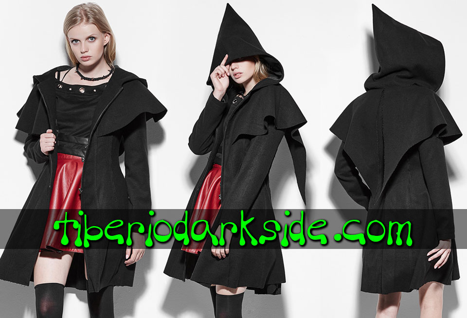 WITCHY & NU GOTH - Outwear PUNK RAVE Acolyte Hood Nu Goth Cape Coat