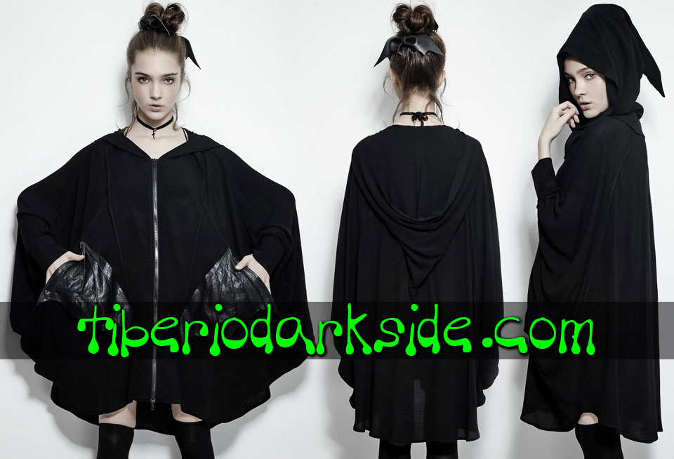 WITCHY & NU GOTH - Outwear PUNK RAVE Bat Wings Nu Goth Hoodie