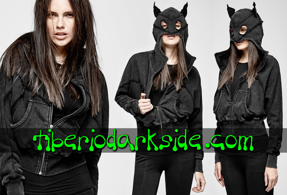 WITCHY & NU GOTH - Outwear PUNK RAVE Bat Nu Goth Hoodie