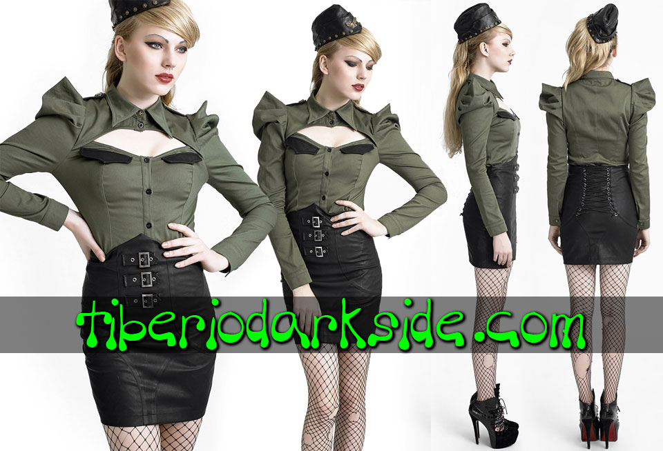 Skirts - Short PUNK RAVE High Waist Buckles Faux Leather Skirt