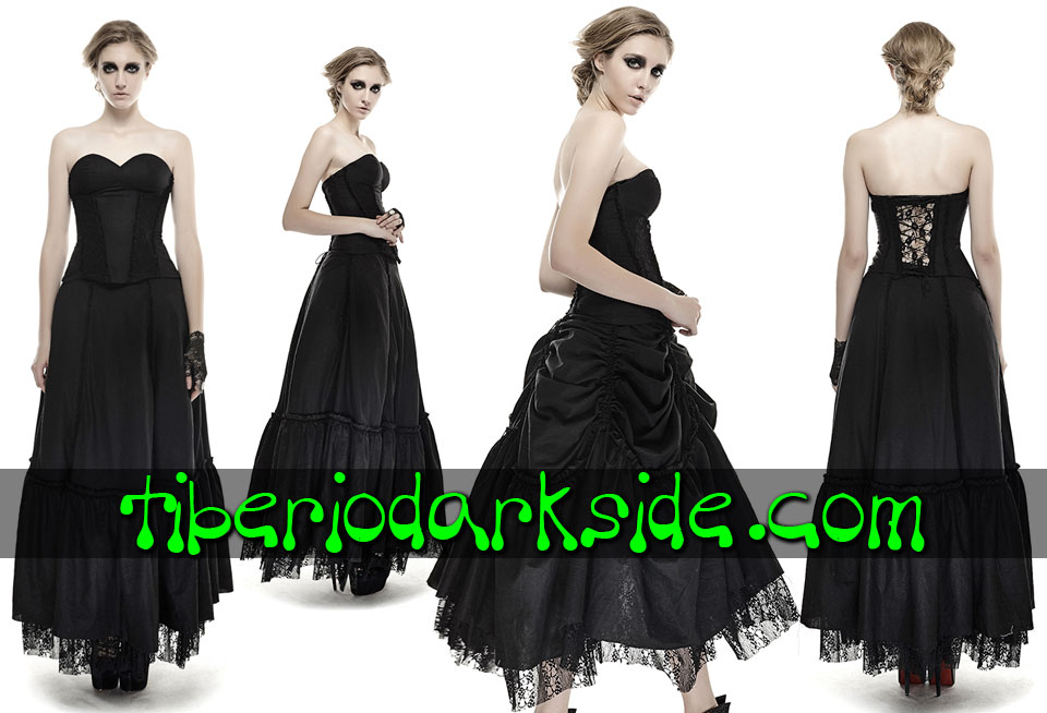 - VICTORIAN GOTH PUNK RAVE Draperies Lace Gothic Dress
