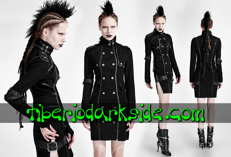 CORPORATE & MILITARY GOTH - Vestidos PUNK RAVE Vestido Militar Uniforme Hebillas