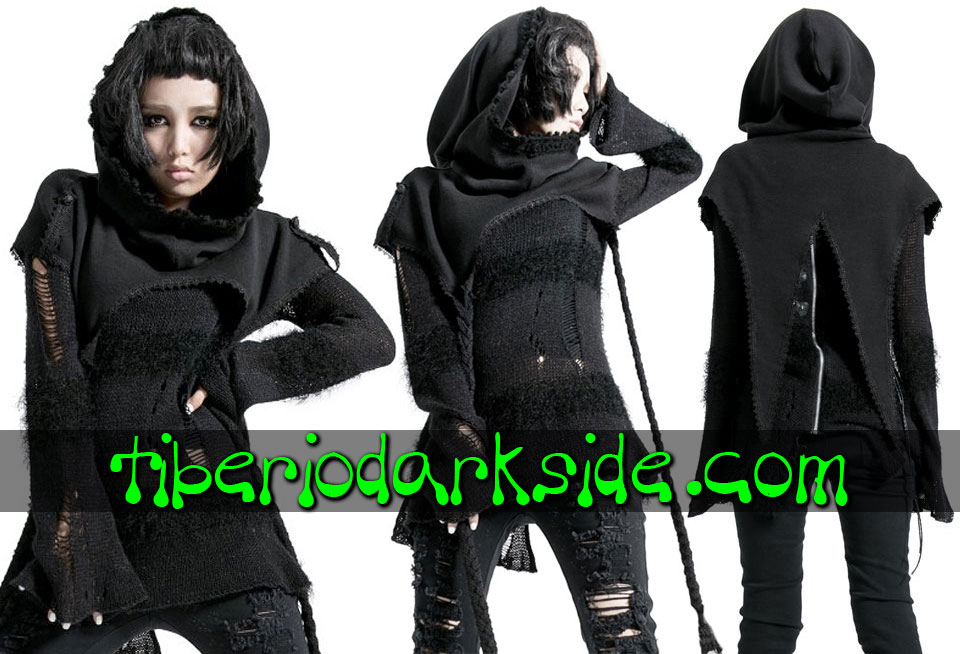 WITCHY & NU GOTH - Outwear PUNK RAVE Hooded Shoulder Cape