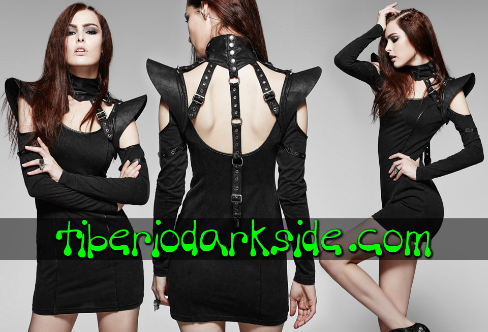 ACCESSORIES - Harnesses PUNK RAVE Black Post Apocalyptic Shoulder Harness