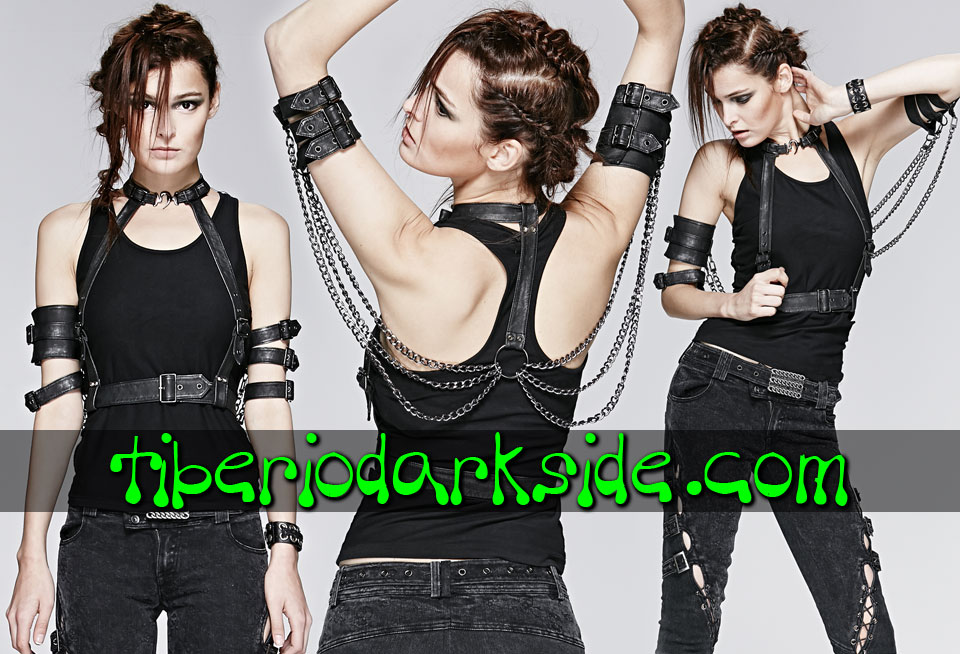 ACCESSORIES - Harnesses PUNK RAVE Chains Post Apocalyptic Harness