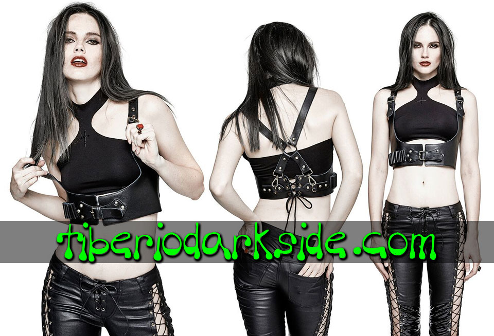 POST APOCALYPTIC & CYBER GOTH - Arneses PUNK RAVE Arnes Pecho Post Apocaliptico (Mujer)
