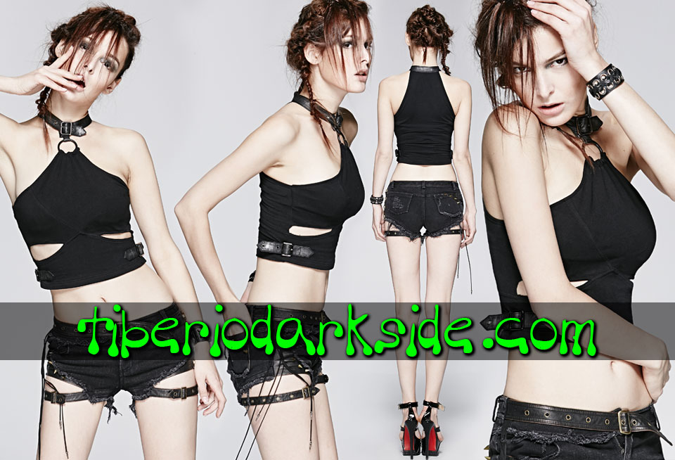 POST APOCALYPTIC - Tops PUNK RAVE Top Post Apocaliptico Esclava