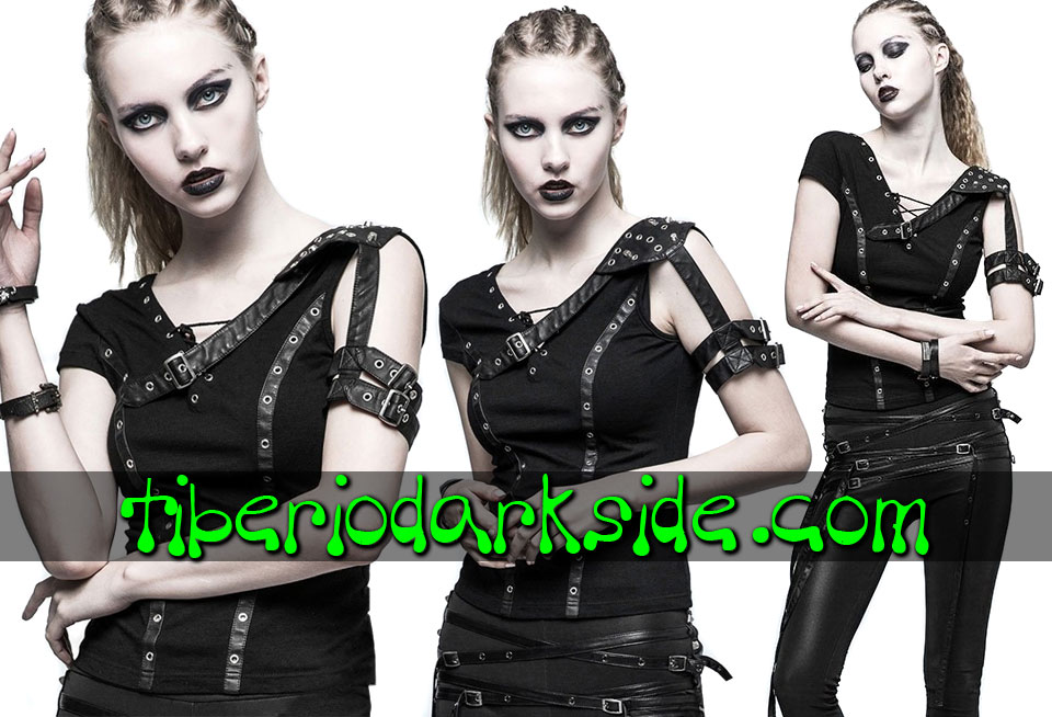 POST APOCALYPTIC & CYBER GOTH - Tops PUNK RAVE Top Post Apocaliptico Furiosa Negro